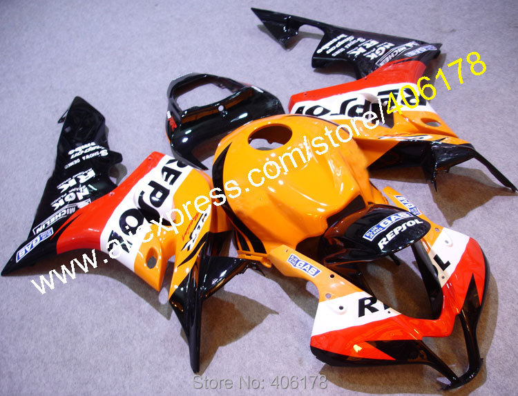 Hot Sales,Full Fairings Set For Honda 07 08 CBR600RR F5 CBR 600 RR 2007 2008 Repsol Aftermarket Fairing Kit (Injection molding) abs injection fairings kit for honda 600 rr f5 fairing set 07 08 cbr600rr cbr 600rr 2007 2008 castrol motorcycle bodywork part