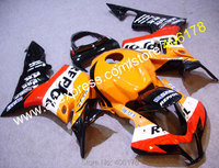 Hot Sales,Full Fairings Set For Honda 07 08 CBR600RR F5 CBR 600 RR 2007 2008 Repsol Aftermarket Fairing Kit (Injection molding)