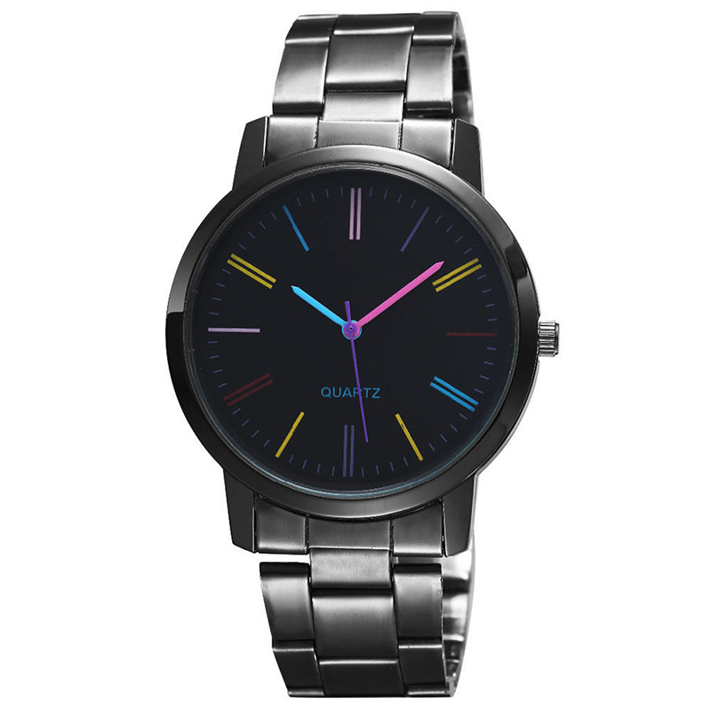 Luxury Men Women Stainless Steel Quartz Watch Colorful Casual Business Sport Watch Male Dress Watches
