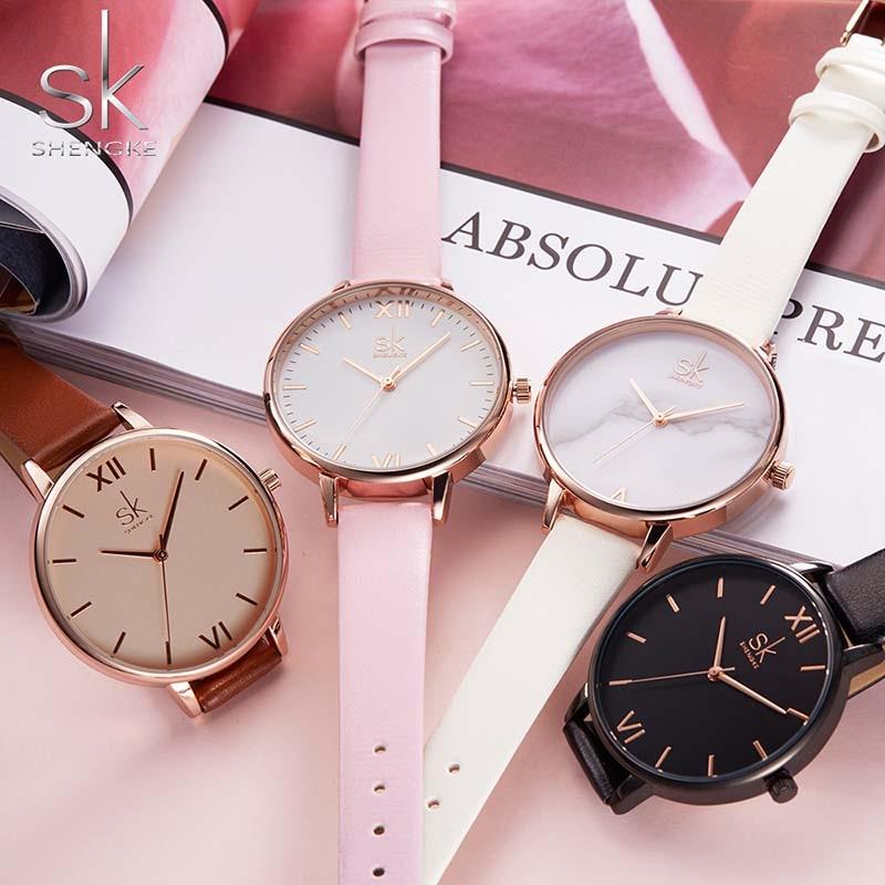 Women Watches Hot fashion creative watches women New Elegant Dress Leather Strap Ultra Slim Wrist Watch clock Reloj Mujer 5