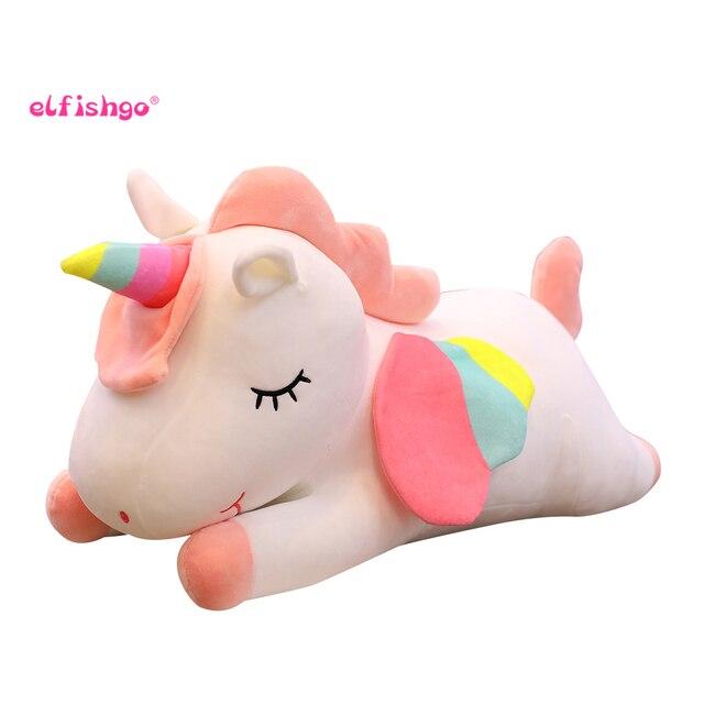 Nova Mentira Unicorn Unicorn Stuffed Dolls Kawaii Animal Macio Brinquedos de Pelúcia para As Crianças Do Sofá Almofadas Caçoa o Presente de Natal