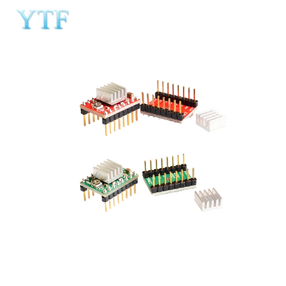 50pcs 1lot Stepper Driver A4988 stepper motor driver heat sink with sticker free shipping drop shipping