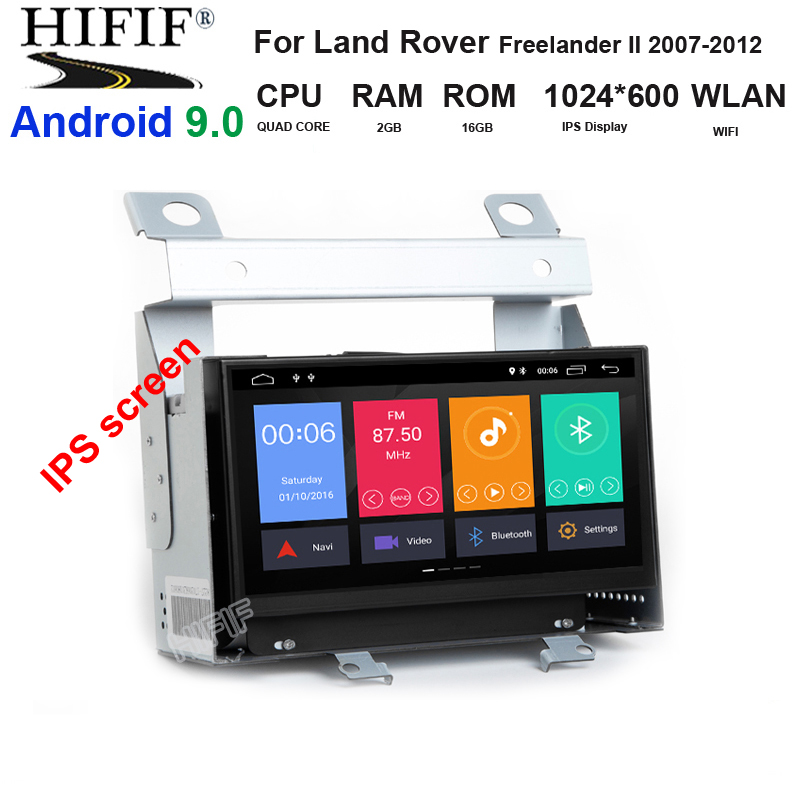 One Din Android 9 Car DVD Multimedia For Land Rover Freelander 2 2007-2012 With Radio GPS Navigation Stereo WiFi BT,7''IPS