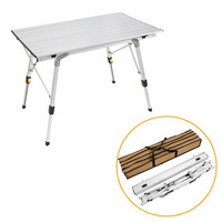 Aluminium Alloy Foldable Desk Portable Outdoor Folding Table Ultra Light Durable Picnic Tables For Barbecue Camping