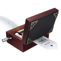 DIY 15 Tone Hand Cranked Carved Music Box Retro Classic With Hole Puncher 30pcs Paper Tapes