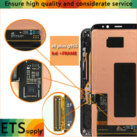 100 Test Work LCD Screen With Frame Super Amoled Compatible For Samsung S8 Plus G955 Lcd