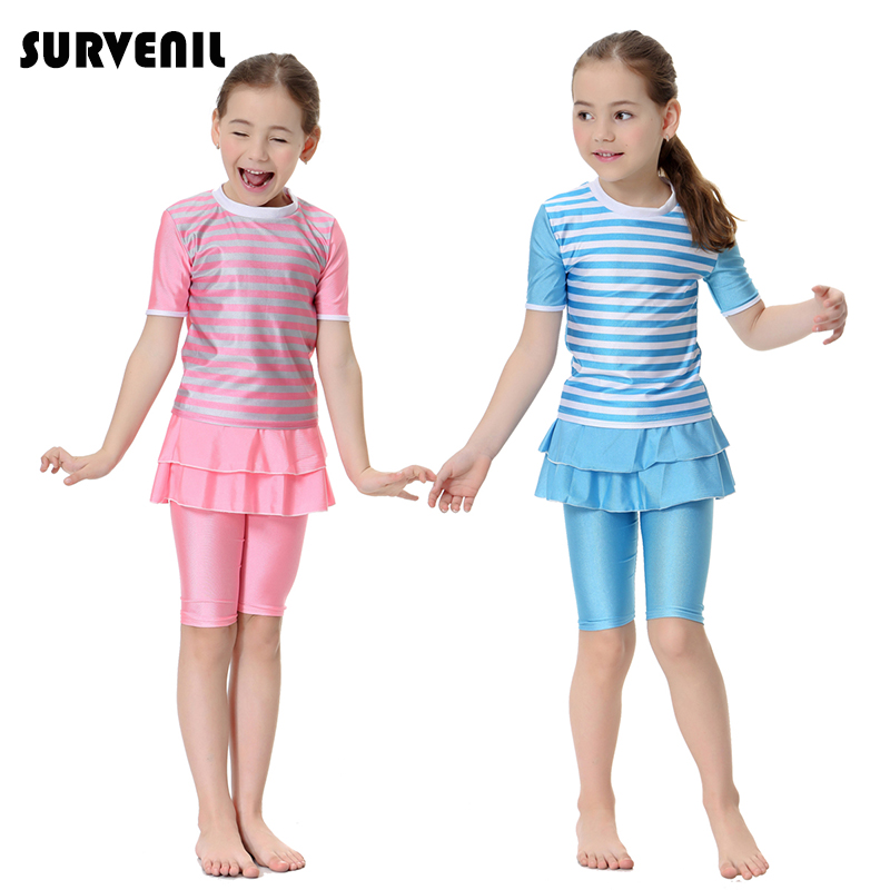 Bikini For Girls Muslim Swimwear UPF50 Baby Girl Swimming Clothes Islamic Swimsuit For Kids Bathing Suit Arab Modest Beach Wear