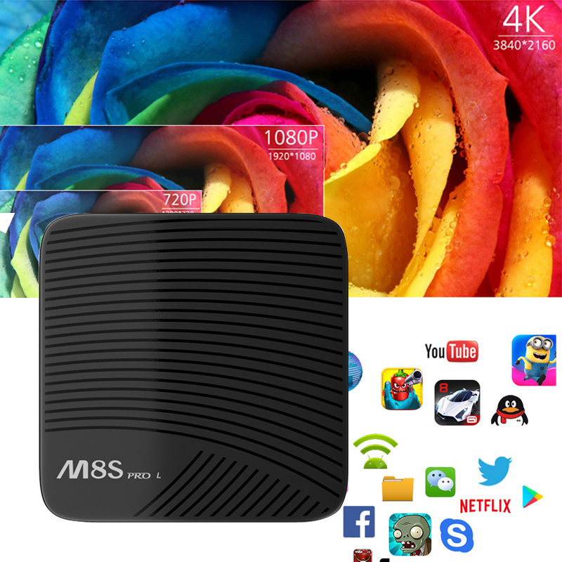 Mecool M8S PRO L Voice Control 4K Smart TV Box 3G 32G Android 7.1 Amlogic S912 2.4G/5GHz Wifi BT4.1+HS Set-top Box Media Player