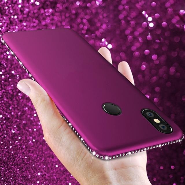De silicona de diamante para Xiaomi rojo mi 4A 6 6A S2 5 Plus 5A primer Nota 4X4 Pro mi MAX 3 mi A1 A2 Lite 5X 6X Pocophone F1 cubierta