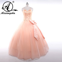 2017 Real Picture Custom Made Quinceanera Dress Lace Up Back Sweetheart Ball Gown Prom Party Dress