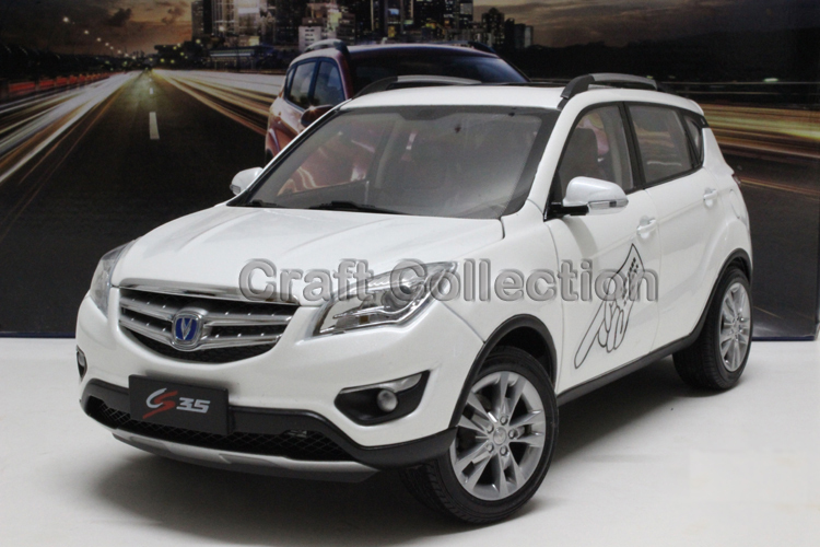 * White 1/18 Car Model for Changan CS35 CROSS SUV Off Road Vehicle Alloy Toy Car