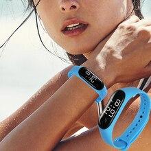 Sports Watches for Women Men Kids Fashion Electronic Silicone Bracelets Wrist Watch Child Digital Hours Outdoor Waterproof Clock
