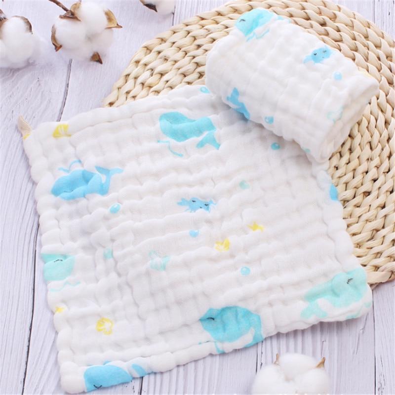 Babypflege Kleinkind Cartoon Gesicht Hand Bade Handtuch Hell 24x19 Cm Reine Baumwolle Baby Bad Handtuch Heißer Verkauf 6 Schichten 100% Baumwolle Gaze Neugeborenen Baby Bad & Dusche Produkt