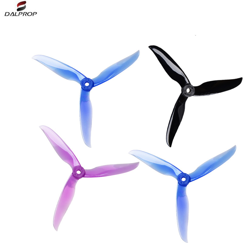 12Pair 24PCS DALPROP 5544 T5544C T5544 5inch 3 Blade Tri-blade FPV Propeller CW CCW for RC Drone FPV Racing image