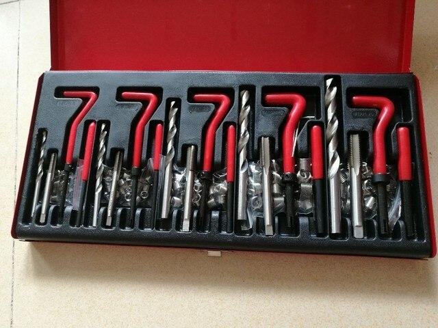 131pc  Auto Engine Block Restoring Damaged Thread Repair Tool Kit M5 M6 M8 M10 M12