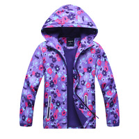 2018 children outwear for girls kids clothes floral printed girls windbreaker jackets hooded new girl outwear 4 13T kids clothes