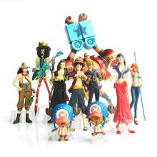 10 pçs/set anime one piece após 2 ano pop luffy/nami/zoro/brook figura de ação Brinquedo(China)