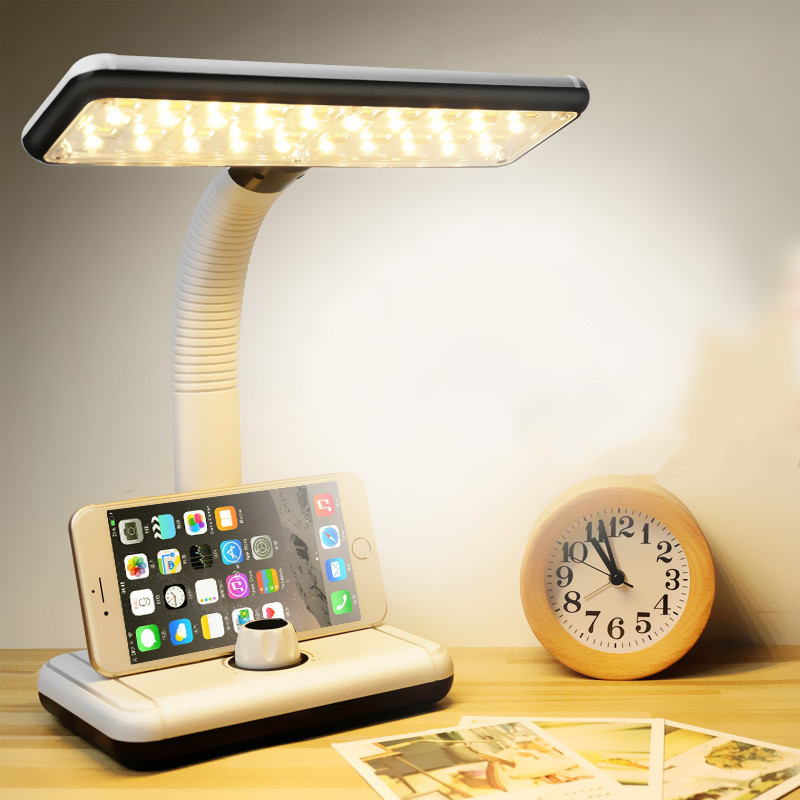 High-quality LED table lamp without limit dimming charging night light reading desk lamps dormitory study  indoor lighting high quality 3d led night light usb switch table lamp lanterna for home decoration