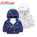 2017 Chifave New Spring Boys Hooded Jacket Coat Trench Coat Long Sleeve Children Printing Fashion Kides Boys Clothing
