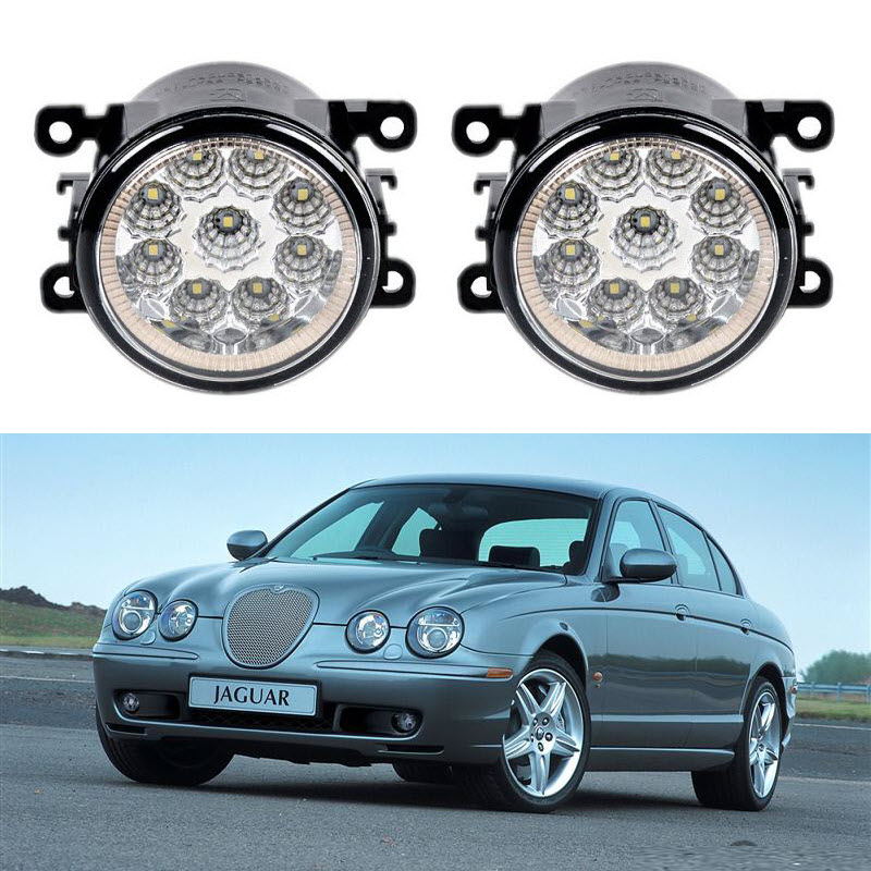 Car-Styling For Jaguar S-TYPE CCX 1999-2009 9-Pieces Led Fog Lights H11 H8 12V 55W Fog Head Lamp led front fog lights for jaguar s type ccx saloon 1999 2007 2008 car styling bumper high brightness drl driving fog lamps 1set