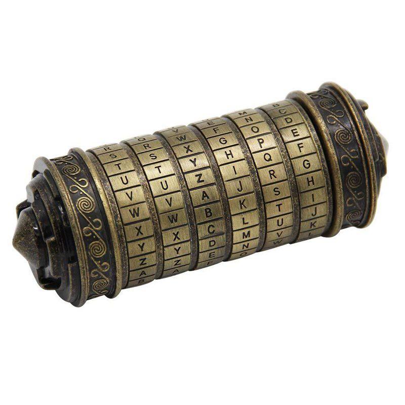 Leonardo Davinci Code jouets métal Cryptex verrouille saint valentin cadeau lettre mot de passe évasion chambre accessoires