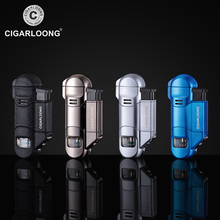 Cigar Lighter Portable 3 Torch Big firepower Windproof with Drill CB-0503