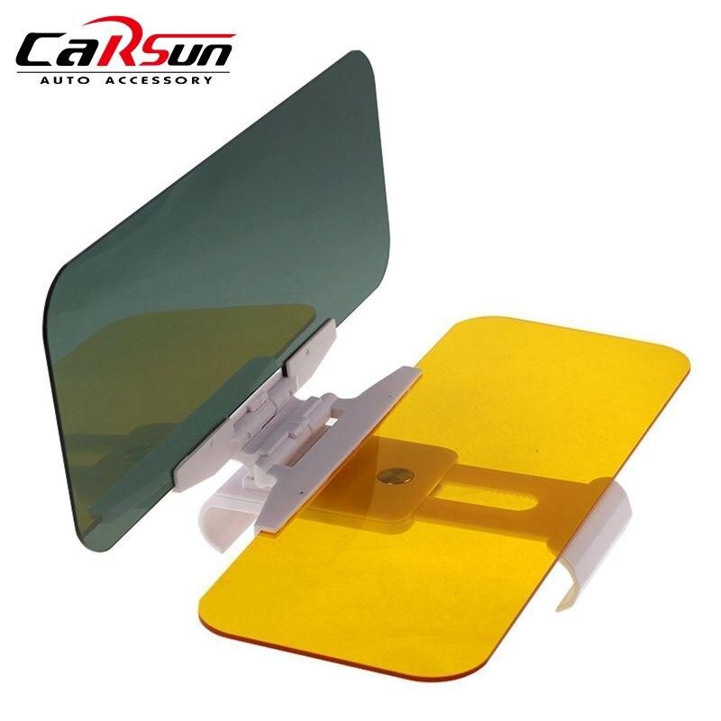 Viseira de sol do carro 2 em 1 deslumbrante óculos de sol dia visão noturna sol anti-uv bloco viseira anti-deslumbrante pára-sol espelho de condução visão clara