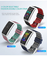 Men Smart Band Fitness Bracelet Heart Rate Monitor Blood Pressure Watch ECG+PPG Smart Wristband ECG Watch Smart for IOS Android