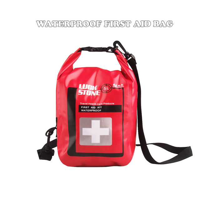 New 5L Large Waterproof First Aid Kit Bag Portable Emergency Kits Case Only For Outdoor Camp Travel Emergency Medical Treatment