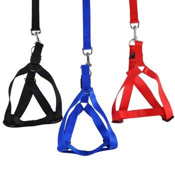 (50 Pieces/Lot)High Quality Nylon Adjustable Pet Harness Safety Dog Pet Chest Vest Harness Leash Lead Set