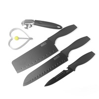 MISGAR Black Steel Kitchen Knives Combination 5pcs Set Family Multifunctional Cutting Meat Vegetable Fruit Knife Cooking Tool