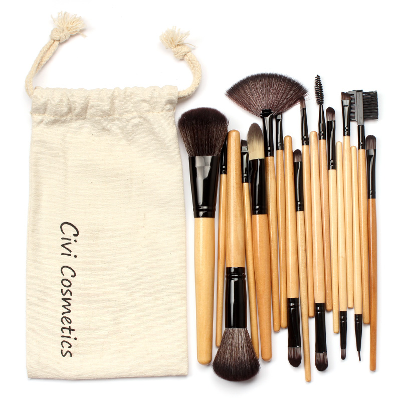 Professional Makeup Brushes Set 18Pcs Makeup Brushes & Tools, With Drawstring Bag twelve makeup brushes set