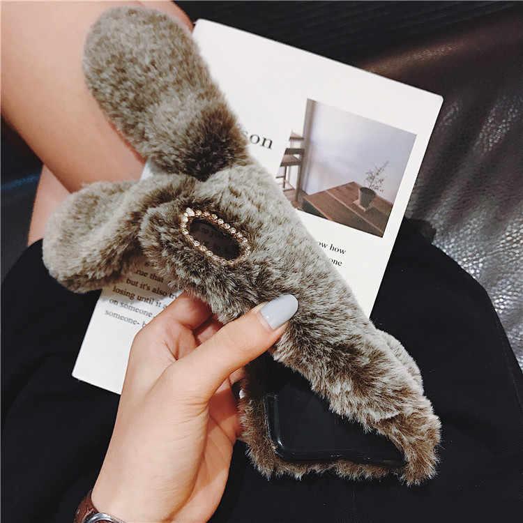 Милый плюшевый кролик 3D Мягкий силиконовый чехол для iphone 5 7 7 S 6 6 S plus 8 8 plus X XS XR MAX Phone аниме мультфильм животное
