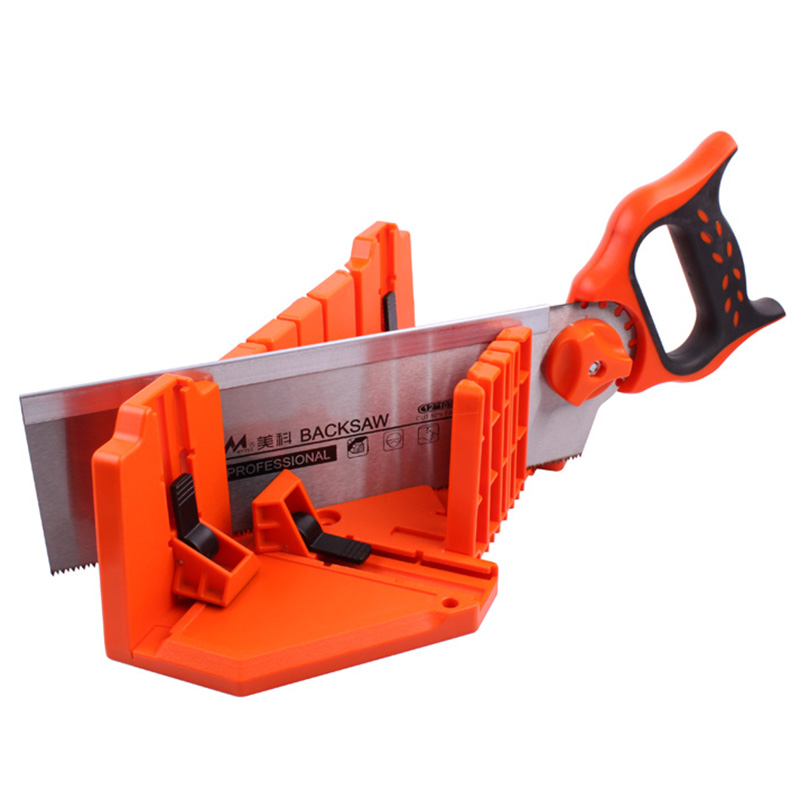 1Pc 12 14 Inch Miter Saw Cabinets Multifunction Woodworking Hand Tools Home DIY Wood Working Hand Saws Clamped Box