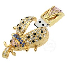 Crystal Bee Beetle USB Memory Stick Flash Drive Disk