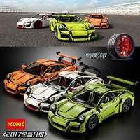 Decool 3368 Chrome Tyre Plating Hub 2726PCS White Green Orange Blocks Bricks Car FIT 42056 Lepin
