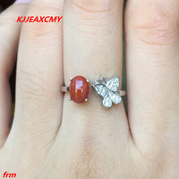 KJJEAXCMY Fine Jewelry 925 Sterling Silver Inlaid Colorful Red Onyx Female Models Ring Wholesale And Retail