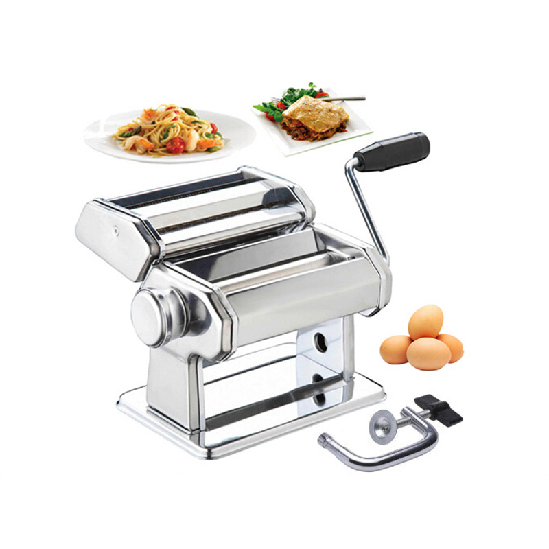 Manual Pasta Machine Stainless Steel Pasta Maker Dough Thickness Adjustable Noodle Maker...