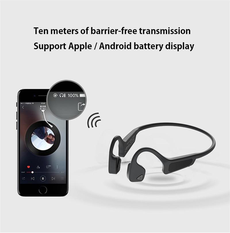 Gym Headset Oordopje Beengeleiding Oortelefoon Voor Xiaomi Huawei Auto Draver iPhone Samsung Oordopjes Bluetooth Draadloze Hoofdtelefoon Mannen - 6