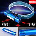 Original! 2-IN-1 6 LED + Q5 LED Mini Headlamp Headlight Head Light Torch Flashlight AAA Lamp Lanterna By 18650 or AAA