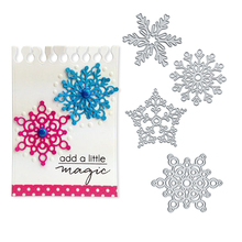 Julyarts 125*120mm Silver Etching Snowflake Dies Cuts Scrapbooking Metal Christmas Cutting