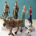 Hot saling PVC Elsa Action & Toy Figures toys princess Elsa Anna doll Hans Kristoff Sven Olaf figures kids toys 6 pcs/set 4-11cm