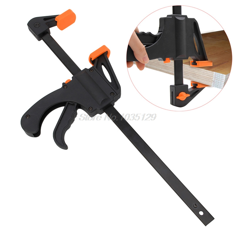 12 Inch Wood-Working Bar Clamp Quick Ratchet Release Speed Squeeze DIY Hand Tool 10 inch wood working bar clamp quick ratchet release speed squeeze diy hand tool b119