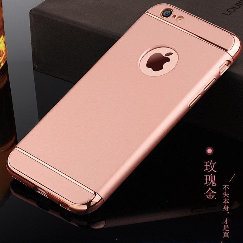 Luxury 3 In 1 Combo Slim Armor Hard Plastic Phone Case Back Cover capa para On For iPhone X 5 5s se 6 6s plus 7/7 plus 8/8 plus