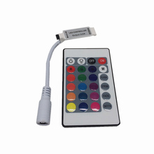 10PCS Mini 24 keys RGB IR Remote Controller for 3528 or 5050 LED strips Small Free Shipping