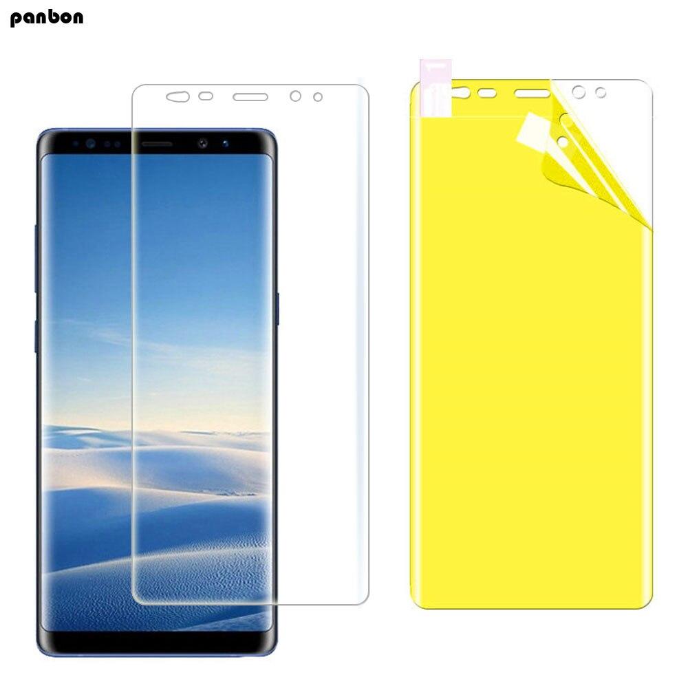 50 pcs/lot protecteur d'écran complet sur Samsung A8/S9 8/plus/A8plus Note 9 8 Nano TPU Film de protection incurvé doux pour J7 J6/4 2018