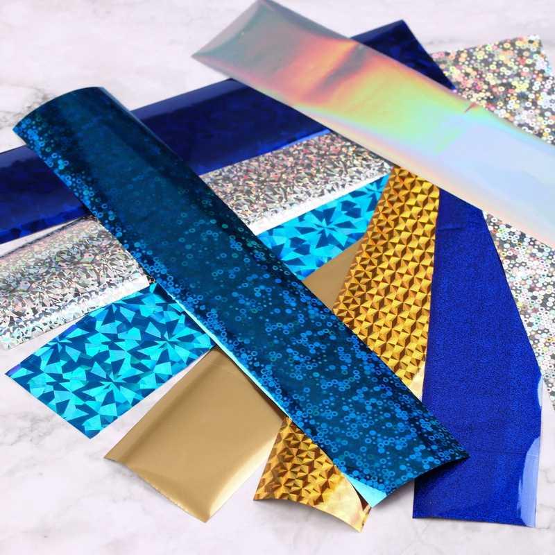 16 ชิ้น/เซ็ต 4*20 ซม. เล็บฟอยล์สติกเกอร์เล็บ Art 3D ตกแต่ง ongles mariage เล็บ Decals ฟอยล์ผู้หญิง
