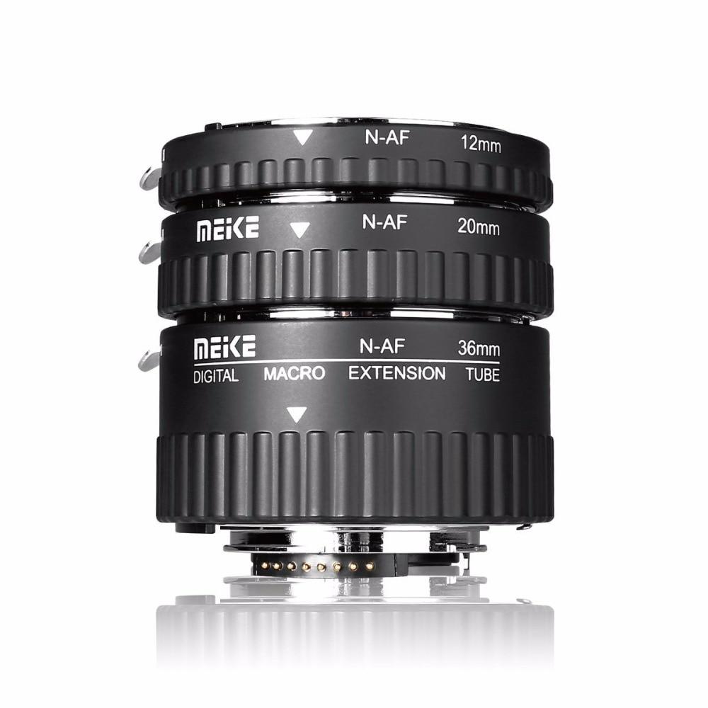 Meike MK N AF1 Al Adapter Auto Focus Extension tube Ring AF for NikonD3000 D3100 D3200
