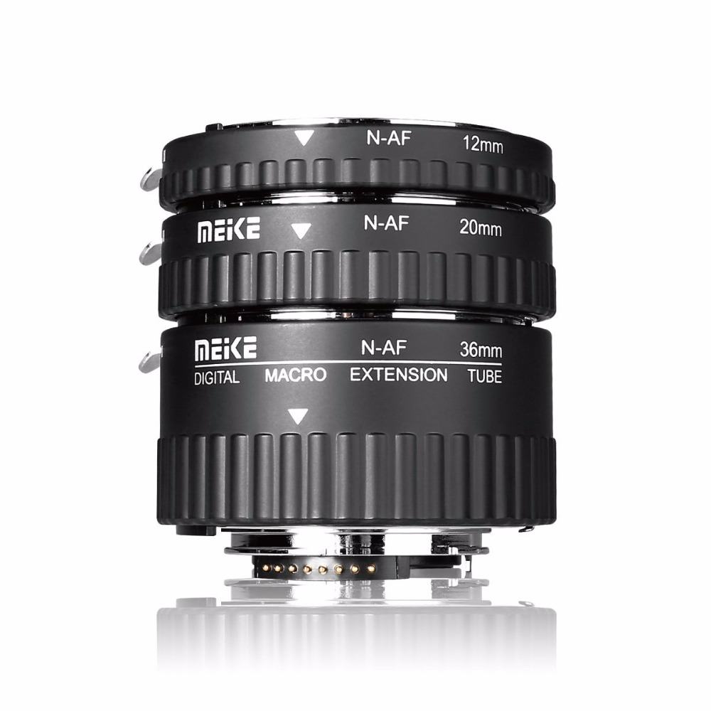 Meike MK-N-AF1-Al Adaptateur Auto Focus tube Extension Anneau AF pour NikonD3000 D3100 D3200 D3400 D5000 D5100 D5200 D5300 D7000 D7200