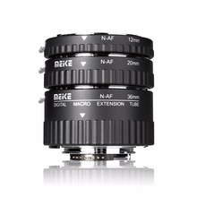 цена на Meike N-AF1-A Adapter Auto Focus Extension tube Ring AF for Nikon D7100 D5200 D3100 D800 D90 D800E D5100 D7000 DSLR Cameras